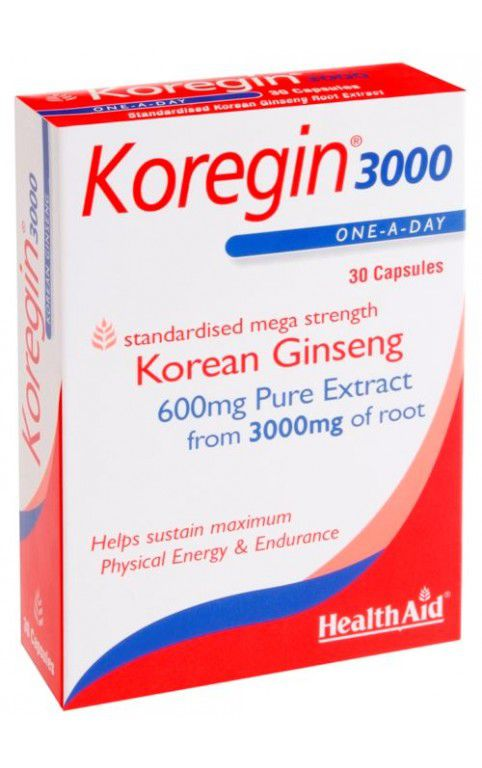 HEALTHAID KOREGIN 3000 (KOREAN GINSENG 600MG)