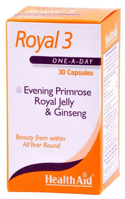 HEALTHAID ROYAL 3 (EVENING PRIMROSE, ROYAL JELLY & GINSENG)